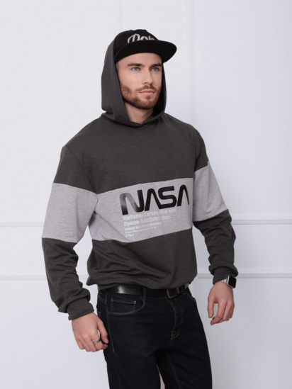 Худі ISSA Plus модель GN-408_темно-серый/серый — фото - INTERTOP
