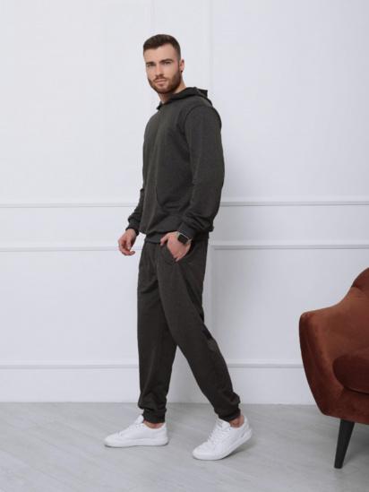 Спортивний костюм ISSA Plus модель GN-411_темно-серый — фото 3 - INTERTOP