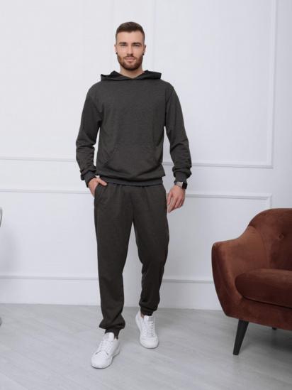 Спортивний костюм ISSA Plus модель GN-411_темно-серый — фото - INTERTOP