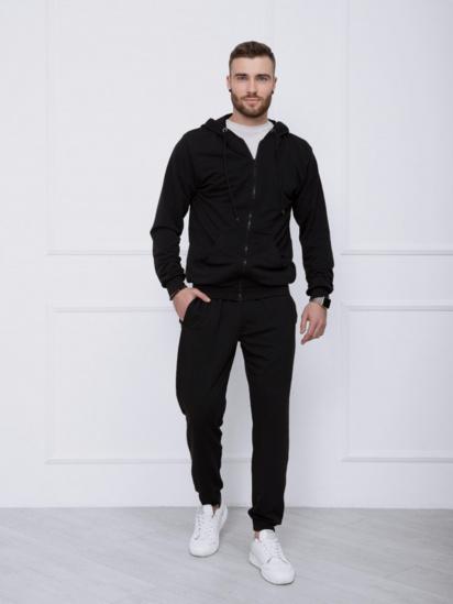 Спортивний костюм ISSA Plus модель GN-414_черный — фото - INTERTOP