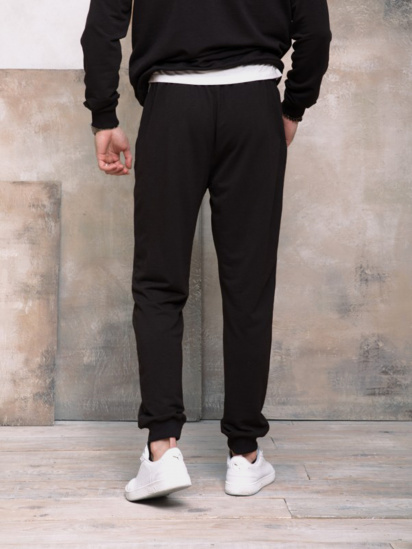 Спортивні штани ISSA Plus модель GN-406_черный — фото 2 - INTERTOP