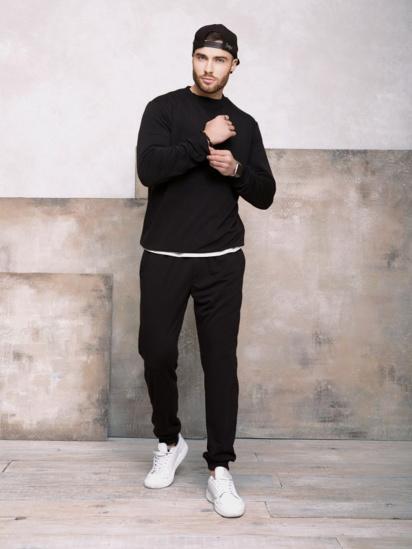 Спортивні штани ISSA Plus модель GN-406_черный — фото 3 - INTERTOP