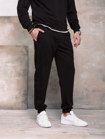 Спортивні штани ISSA Plus модель GN-406_черный — фото 4 - INTERTOP