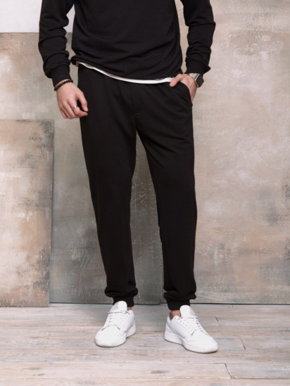 Спортивні штани ISSA Plus модель GN-406_черный — фото - INTERTOP