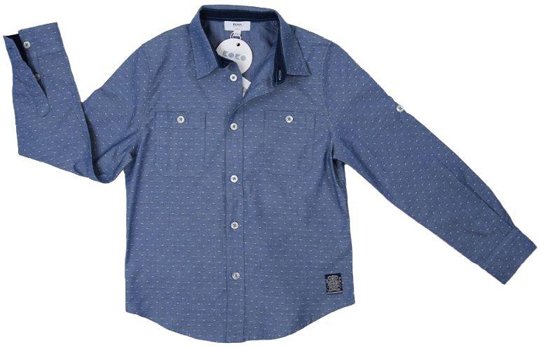 Boss Рубашка с длинным рукавом детские модель HO477 качество, 2017