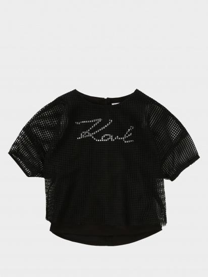 Блуза з коротким рукавом KARL LAGERFELD модель Z15246/09B — фото - INTERTOP