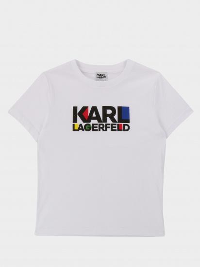 Футболка KARL LAGERFELD модель Z25226/10B — фото - INTERTOP