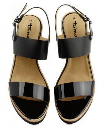 Босоніжки Tamaris модель 28370-24-043 black/blk pat. — фото 3 - INTERTOP