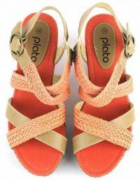 Босоножки для женщин Plato CRT JR256 модная обувь, 2017