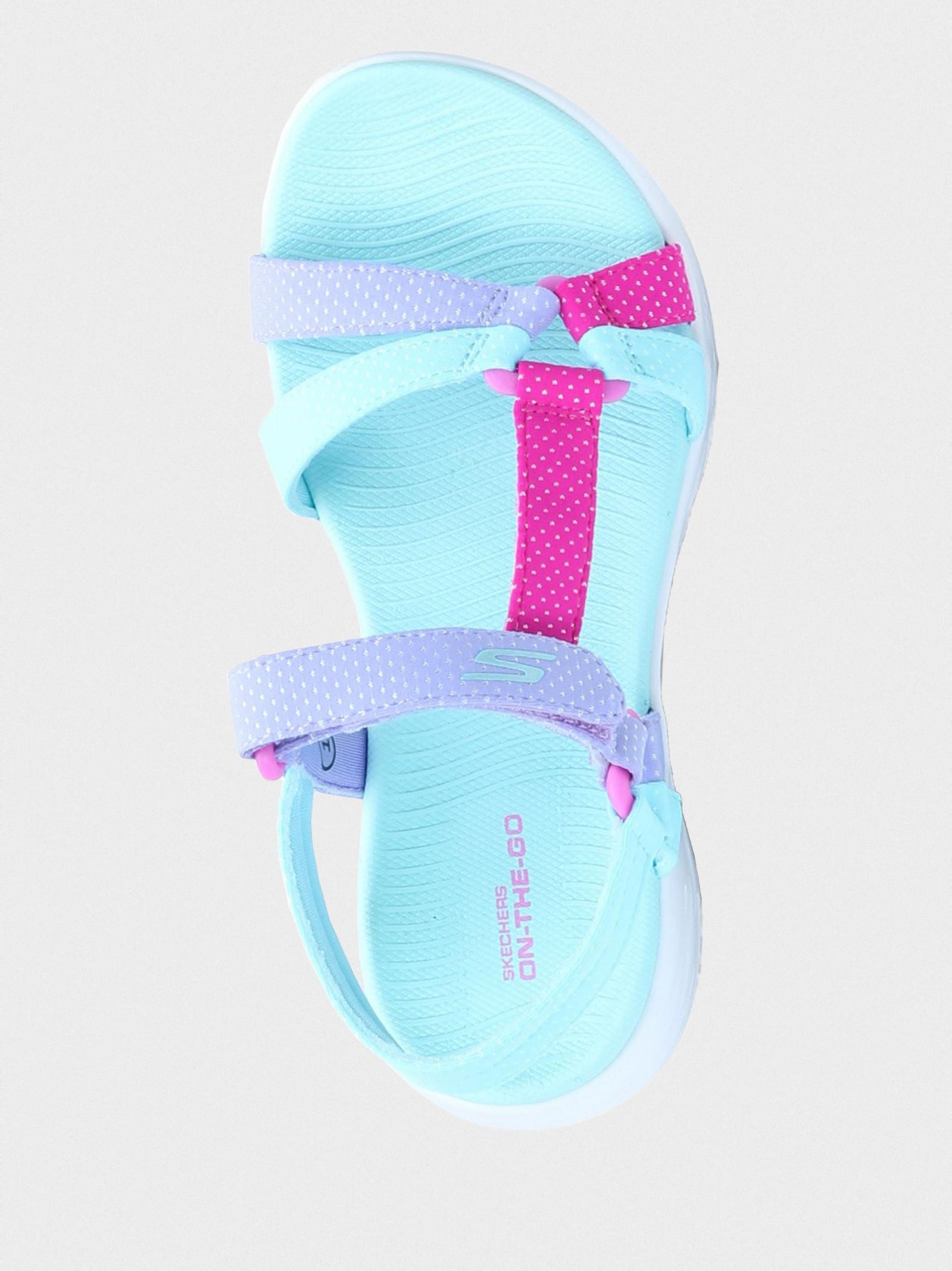 Сандалии детские Skechers 302117L AQUA брендовая обувь, 2017