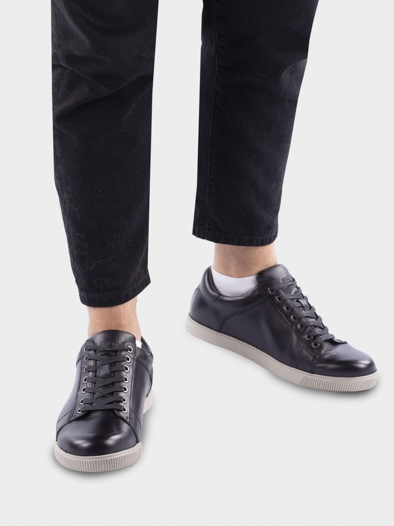 Кеди  чоловічі Skechers USA STREETWEAR 65323 BLK ціна взуття, 2017
