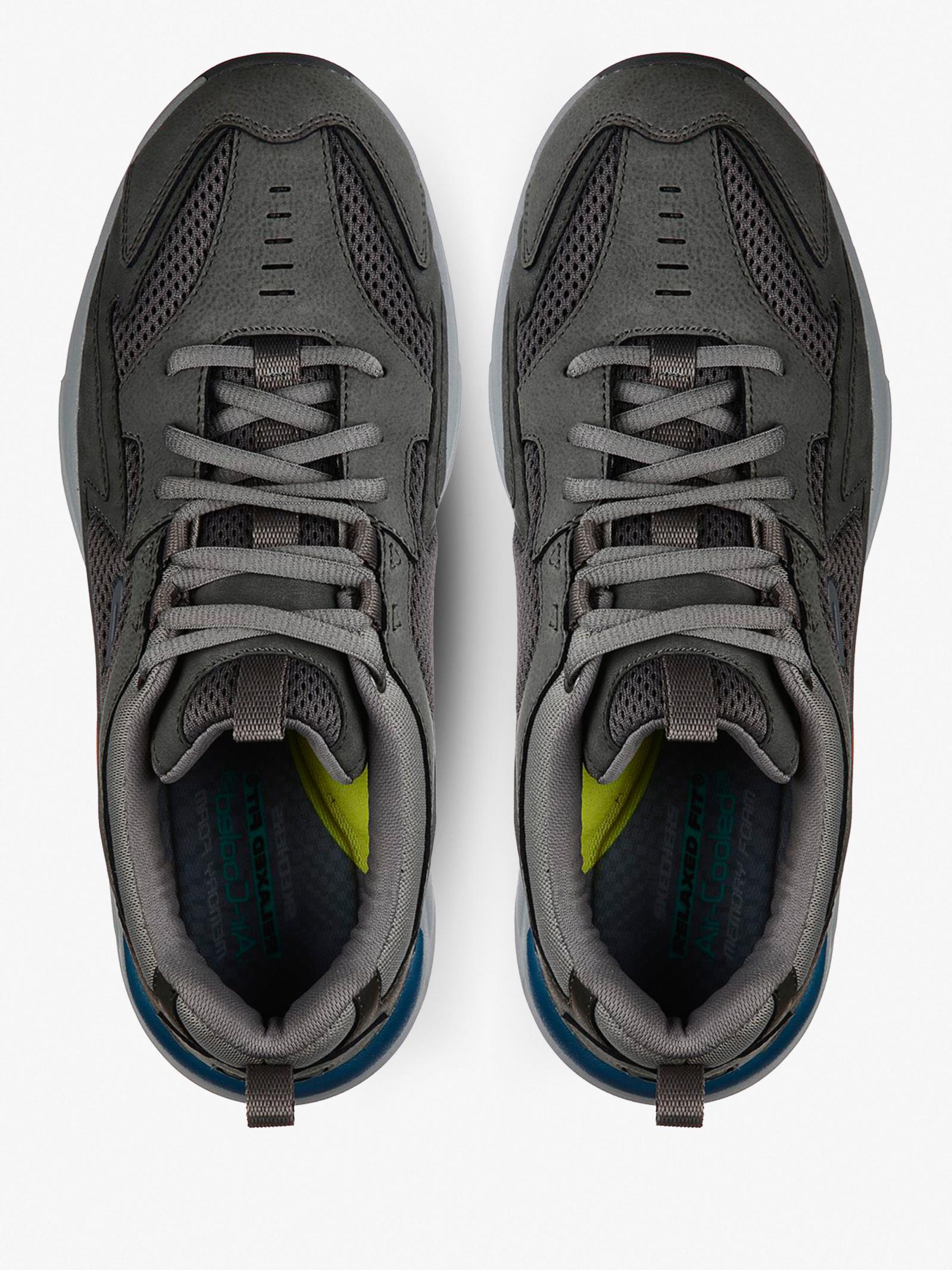 Кроссовки для мужчин Skechers USA Streetwear 210037 GRY размерная сетка обуви, 2017