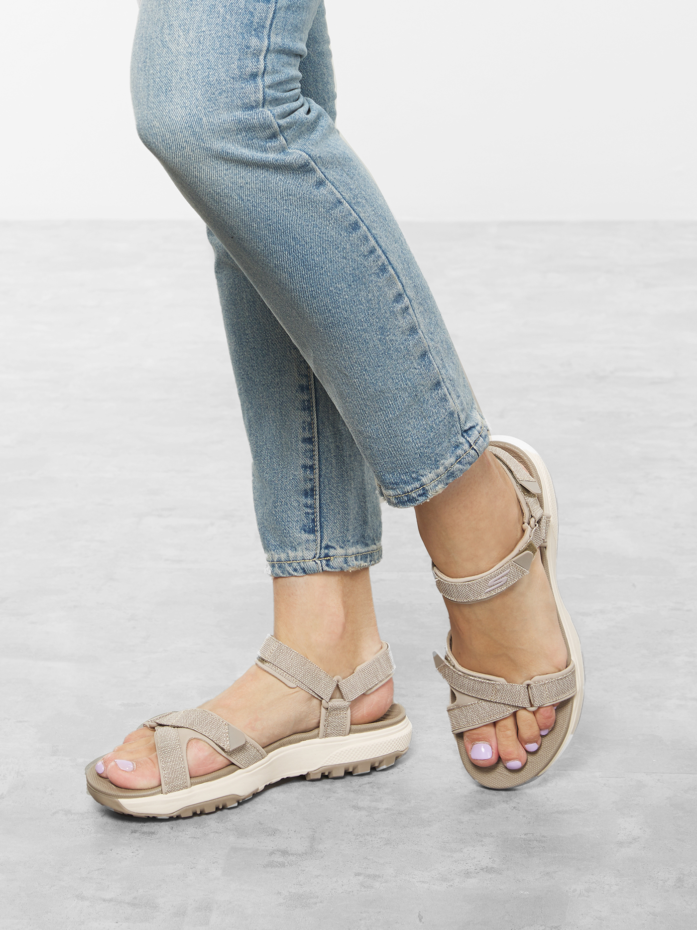 Сандалі  для жінок Skechers 16213 TPE брендове взуття, 2017
