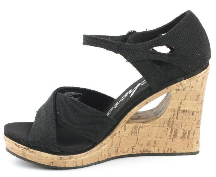 Босоножки для женщин Skechers 38198 BLK брендовая обувь, 2017