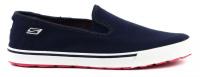 Слипоны для женщин Skechers On-The-Go-Womens 13736 NVY брендовая обувь, 2017