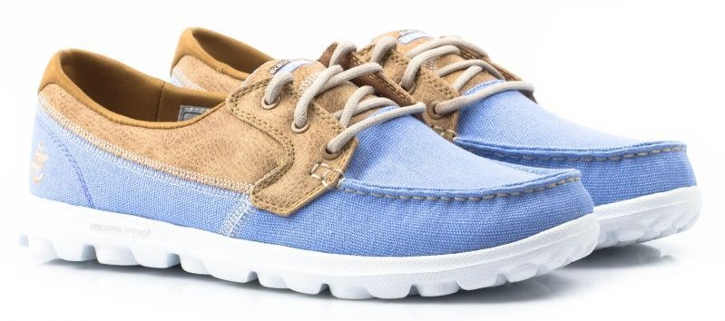 Купить Мокасины женские Skechers KW3655, Голубой
