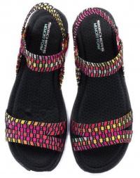 Босоніжки  для жінок Skechers 38597 BKMT замовити, 2017