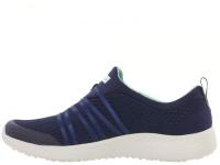 Слипоны для женщин Skechers 12735 NVAQ брендовая обувь, 2017