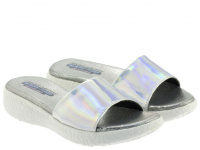 Шлёпанцы для женщин Skechers 38600 SIL модная обувь, 2017