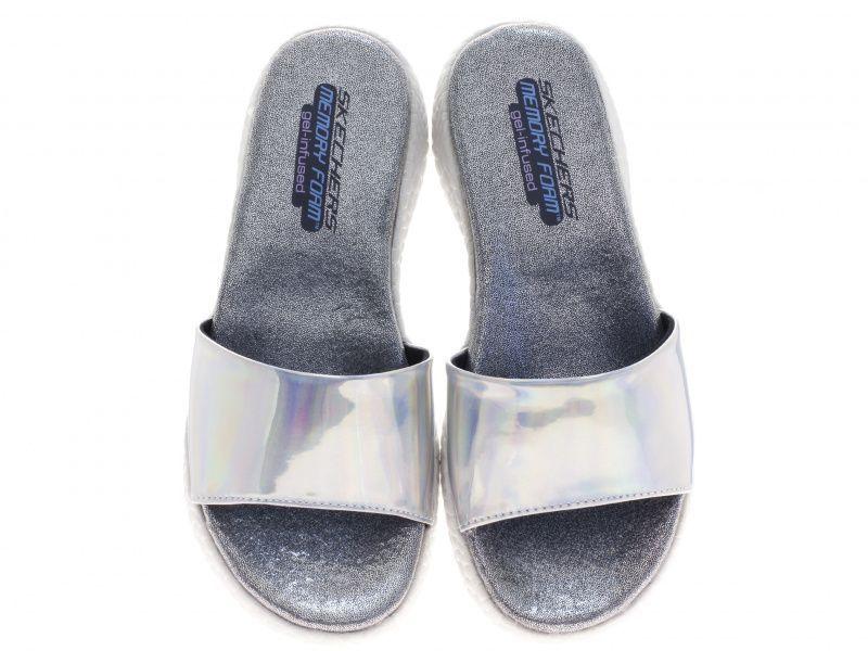 Шлёпанцы для женщин Skechers 38600 SIL брендовая обувь, 2017