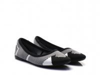Балетки для женщин Skechers 48487 BKW модная обувь, 2017