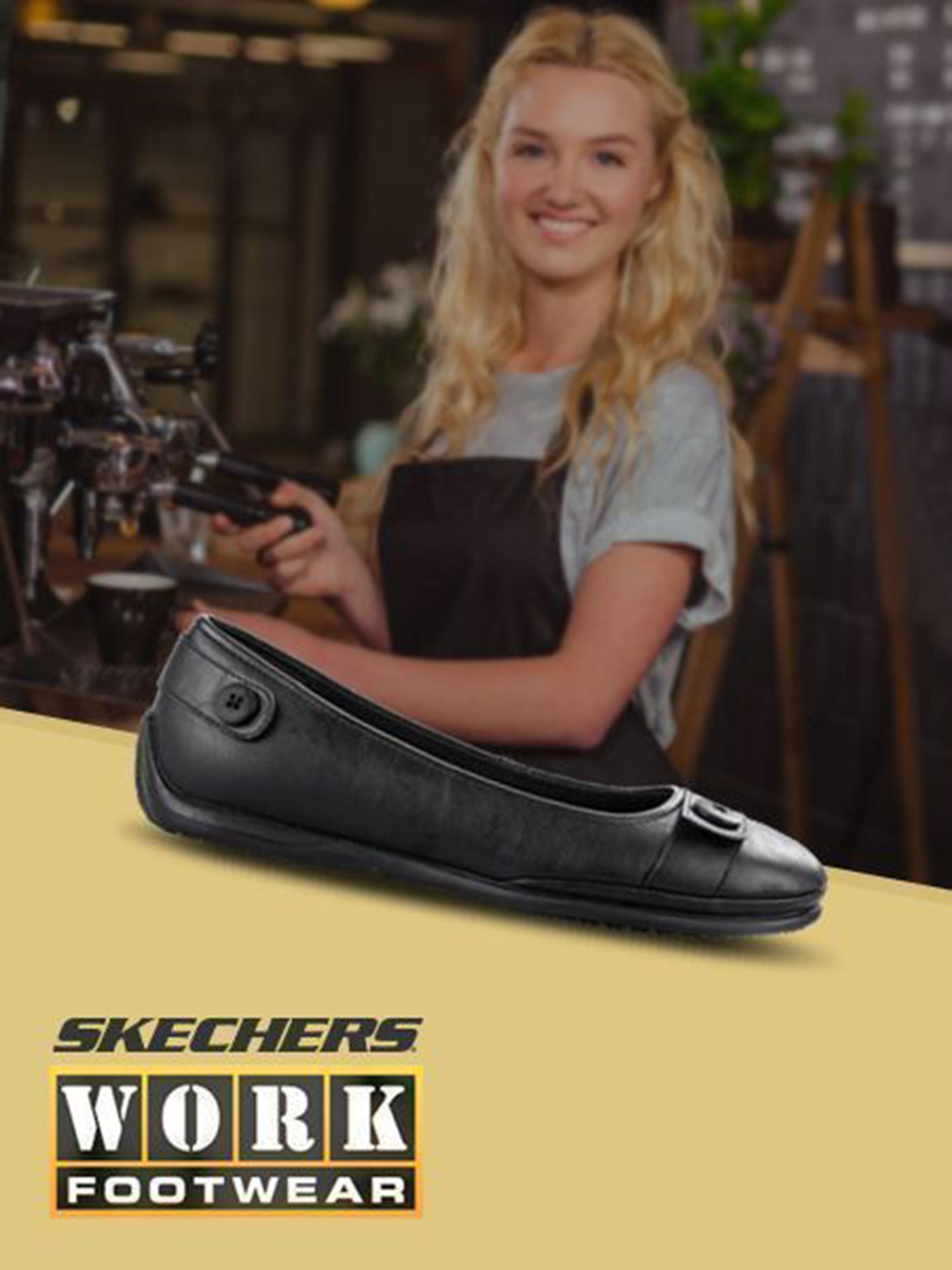 Купить Балетки для женщин Skechers KW4776, Черный