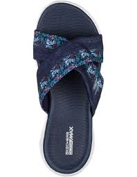 Шльопанці  для жінок Skechers 15306 NVY купити взуття, 2017