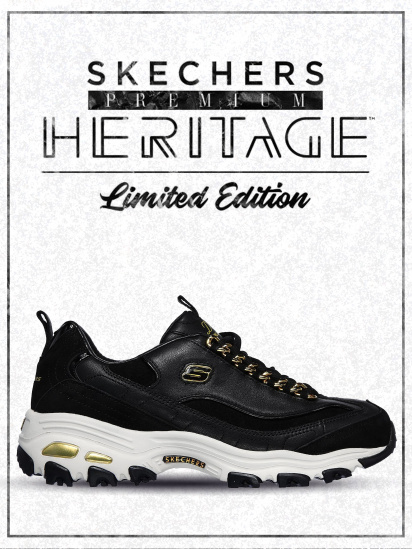 Кросівки fashion Skechers D'Lites - Golden Idea модель 149107 BKGD — фото - INTERTOP