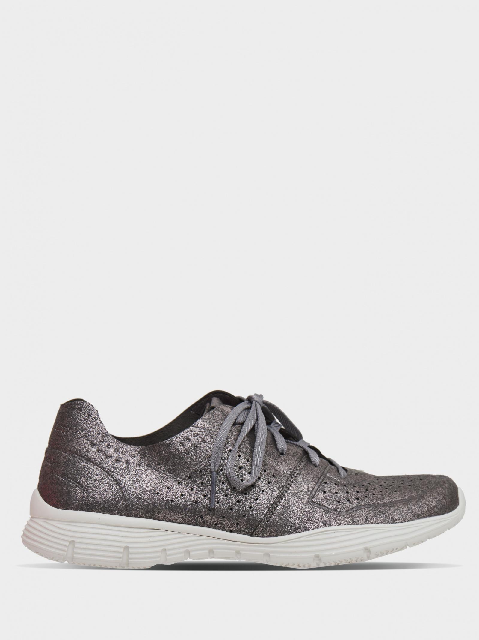 Кроссовки для женщин Skechers Modern Comfort 49632 GUN брендовая обувь, 2017