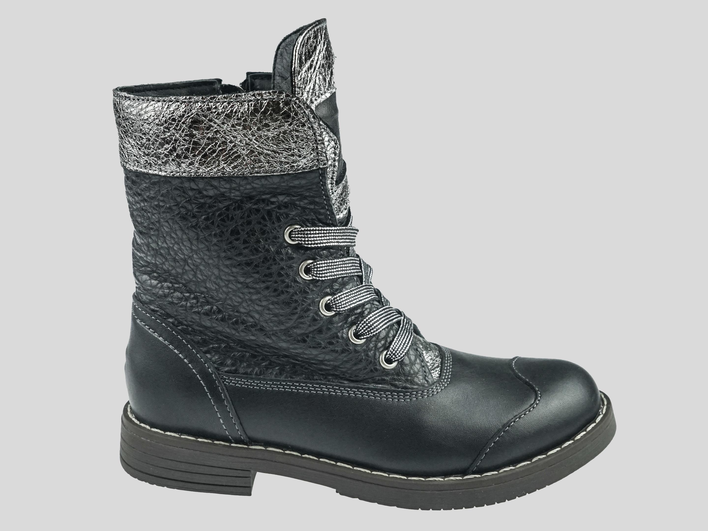 Купить Кеды детские Детские ботинки LZ4001-93 LZ4001-93, LiONEli, Черный, Серебряный
