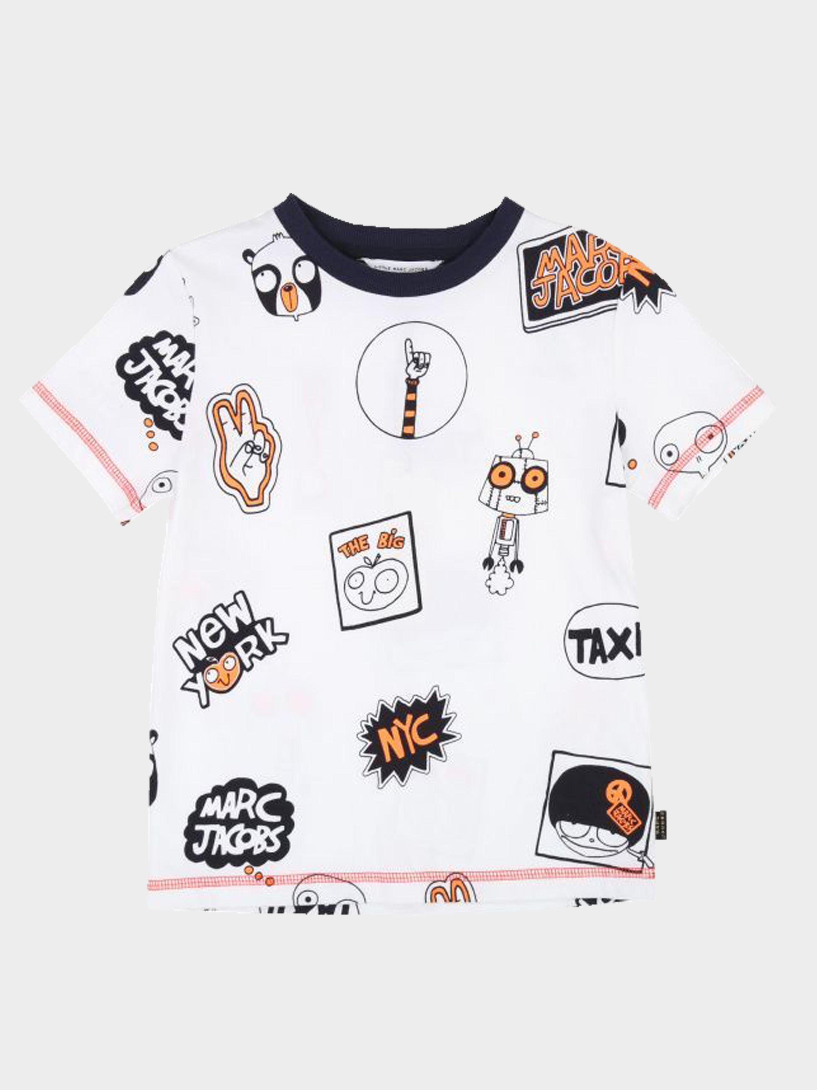 Купить Футболка детские модель MJ917, Little Marc Jacobs, Белый