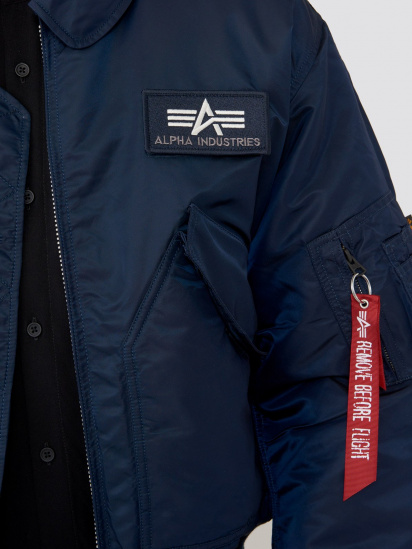 Легка куртка Alpha Industries модель MJC22000C1_replica_blue — фото 3 - INTERTOP