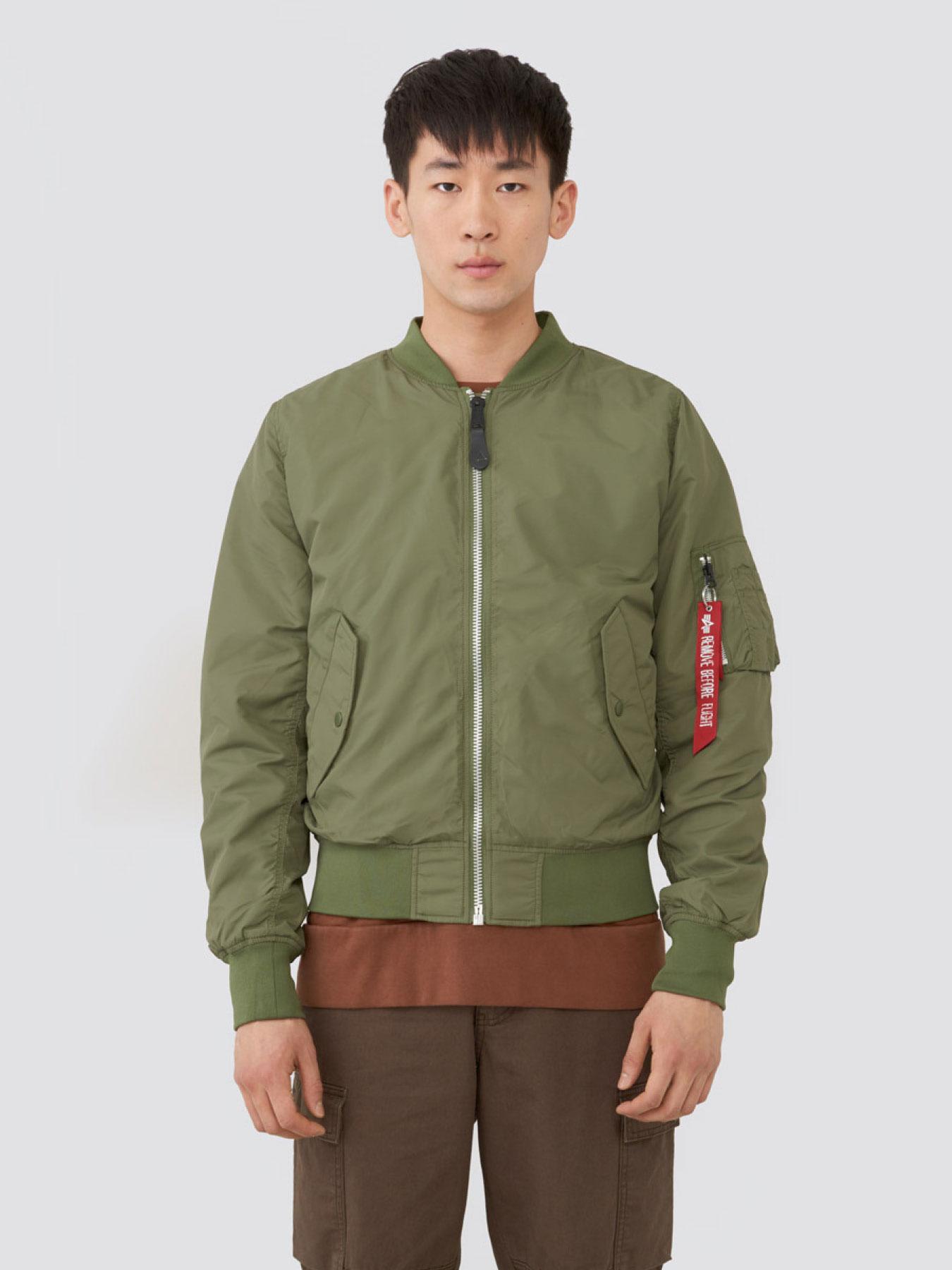 Куртка мужские Alpha Industries модель MJL46000C1_sage , 2017