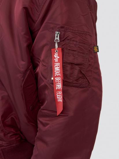 Куртка Alpha Industries модель MJM21000C1_maroon — фото 4 - INTERTOP