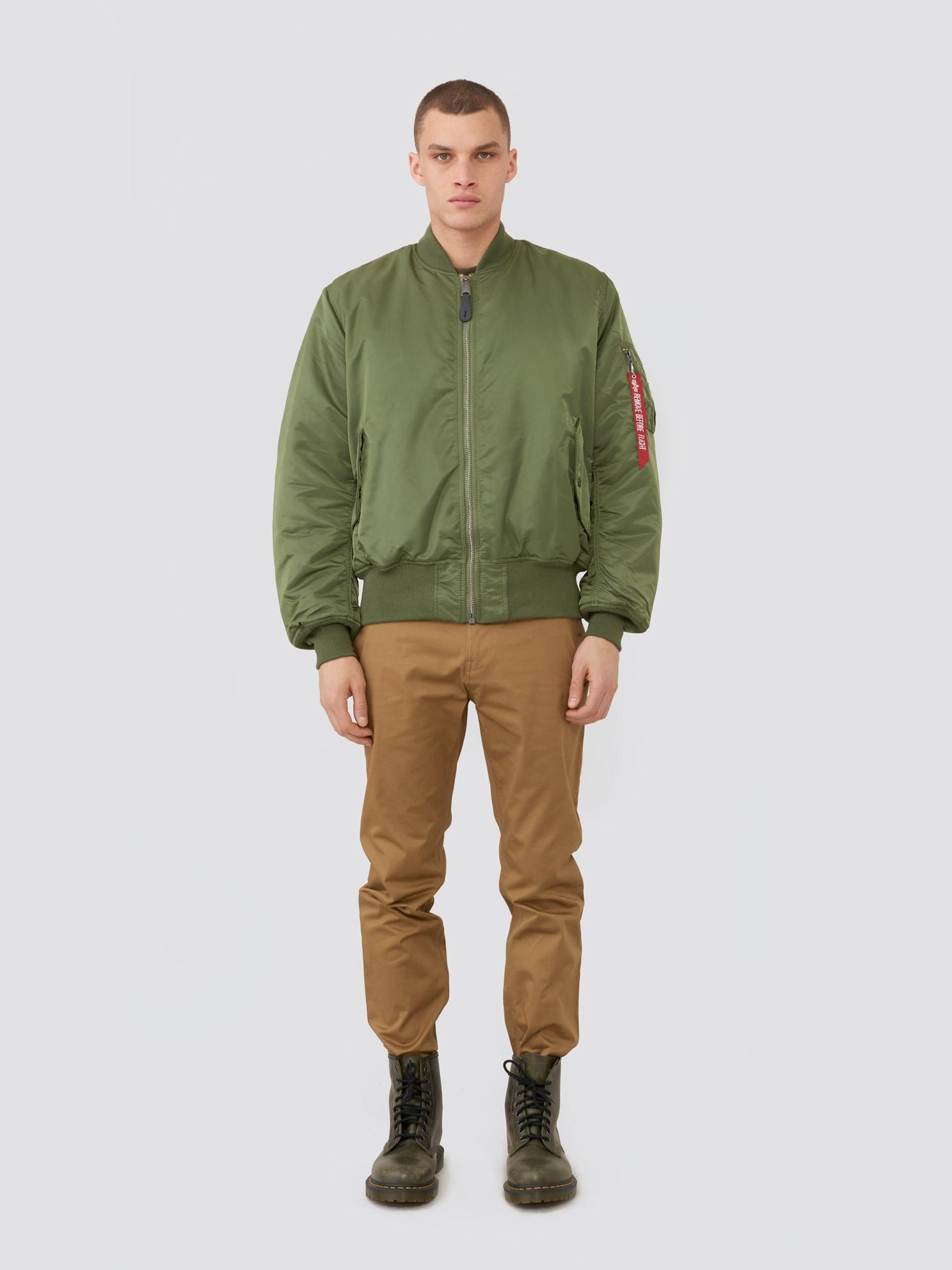 Куртка мужские Alpha Industries модель MJM21300C1_sage , 2017