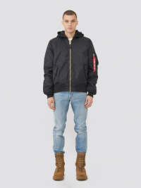 Куртка мужские Alpha Industries модель MJM47506C1_black купить, 2017