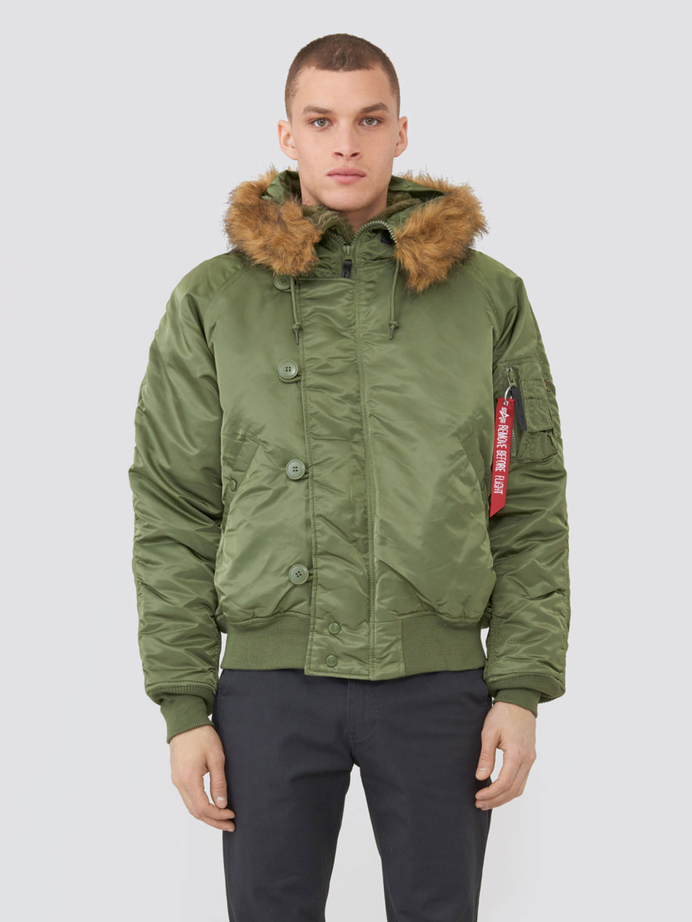 Куртка мужские Alpha Industries модель MJN30000C1_sage , 2017