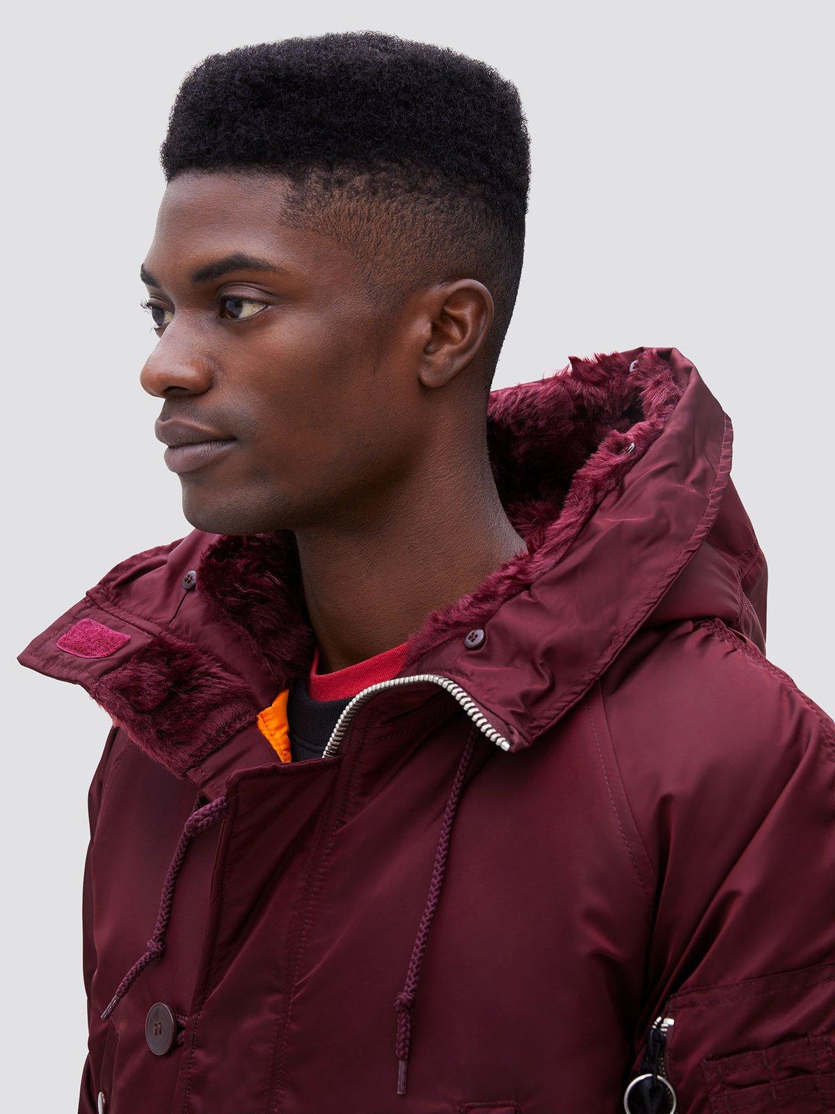 Куртка мужские Alpha Industries модель MJN31210C1_maroon , 2017