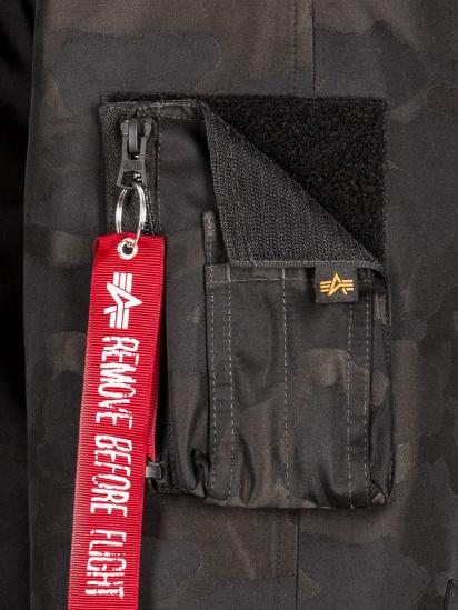 Пальто пухове Alpha Industries модель MJN48503C1_black_camo — фото 5 - INTERTOP