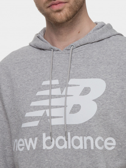Худі New Balance Essentials Stacked Logo модель MT03558AG — фото 3 - INTERTOP