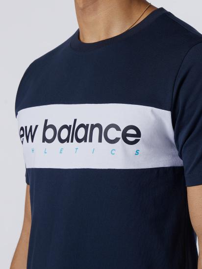 Футболка New Balance  Athletics Linear модель MT11548ECL — фото 4 - INTERTOP