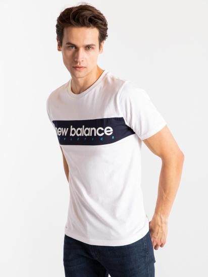 Футболка New Balance  Athletics Linear модель MT11548WT — фото - INTERTOP