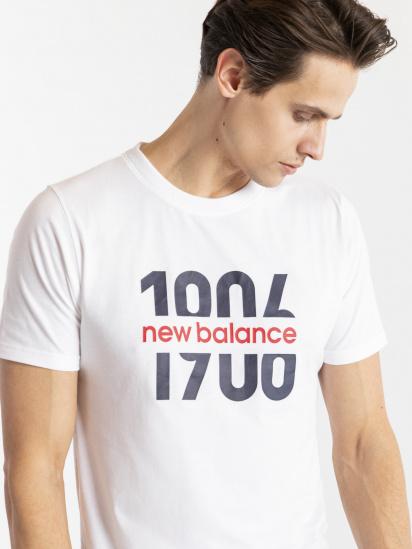 Футболка New Balance Classic Split 1906 модель MT11908WT — фото 4 - INTERTOP