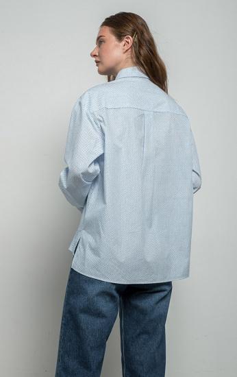 Сорочка з довгим рукавом MR520 модель MR22328630821LightBlue — фото 3 - INTERTOP