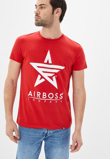 Футболка Airboss модель MSU332588_red — фото - INTERTOP