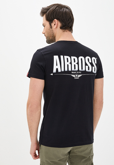 Футболка Airboss модель MSU775364_black — фото 3 - INTERTOP
