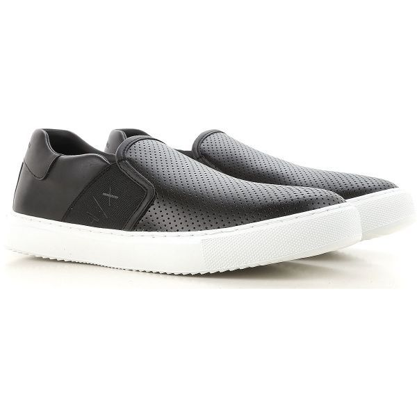 Слипоны для мужчин Armani Exchange MAN SNEAKER OV72 брендовая обувь, 2017