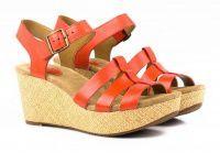 Женские босоножки оранжевые, фото, intertop