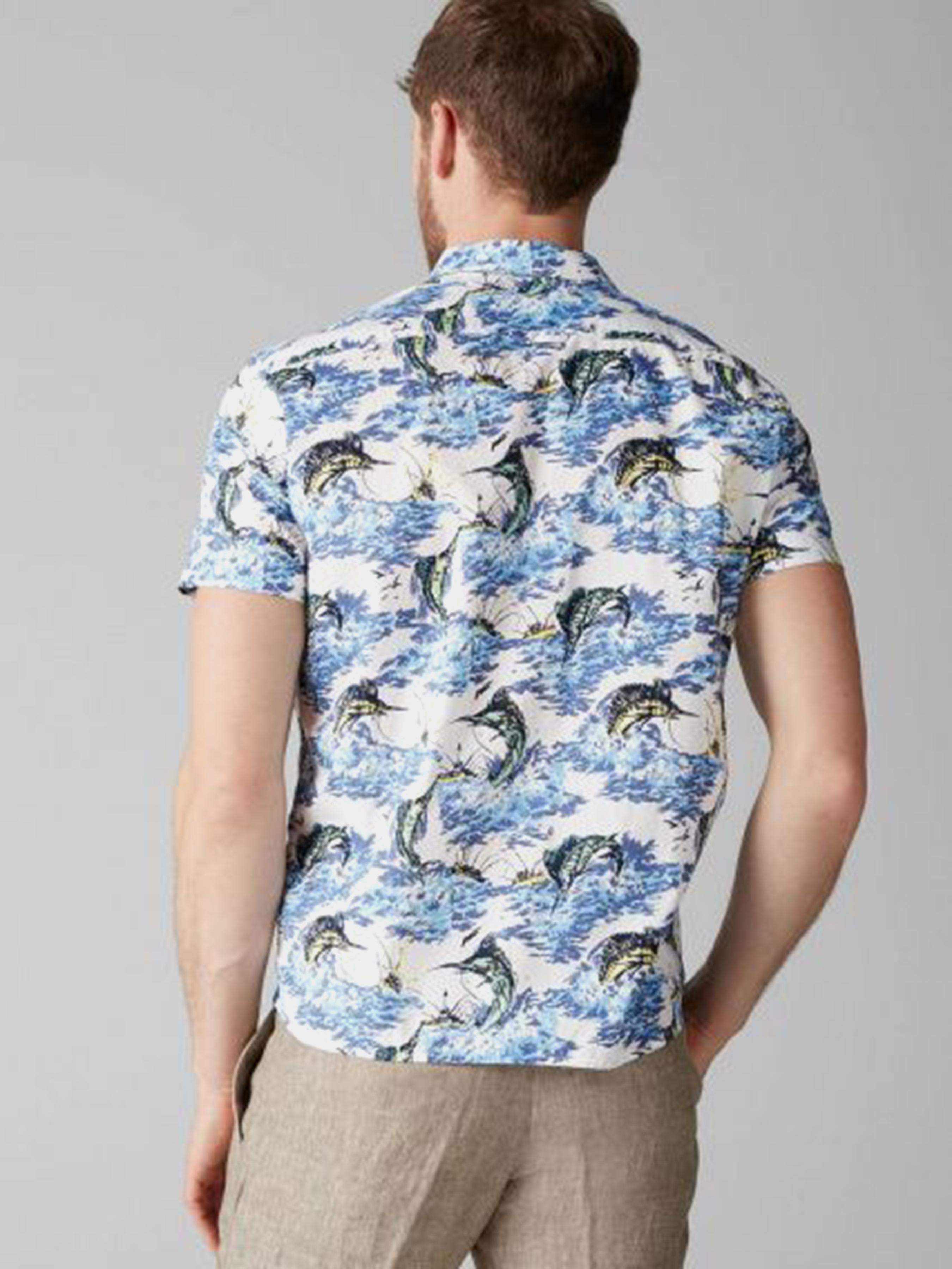 Рубашка с коротким рукавом мужские MARC O'POLO модель PE3159 цена, 2017