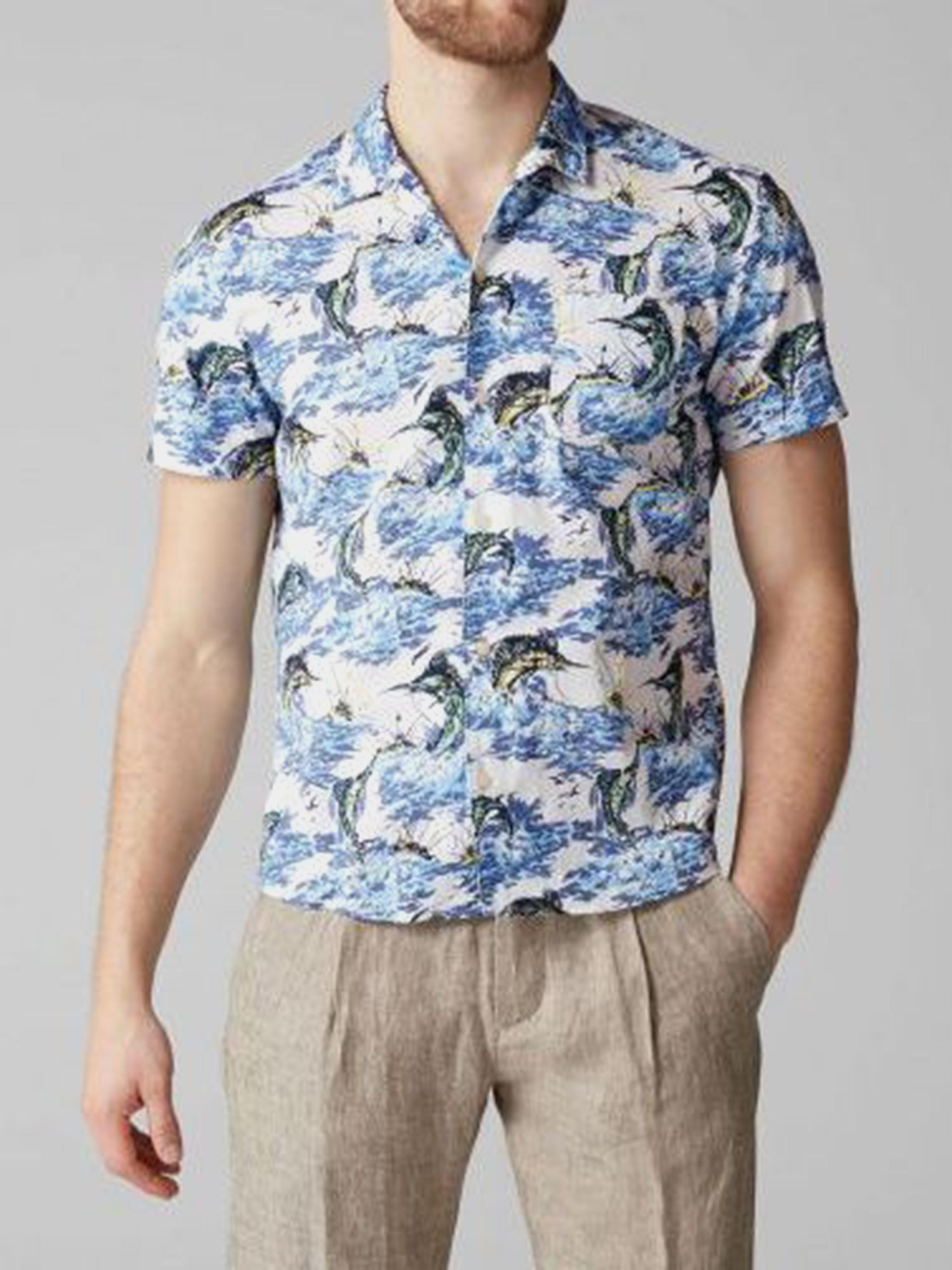 Рубашка с коротким рукавом мужские MARC O'POLO модель PE3159 приобрести, 2017
